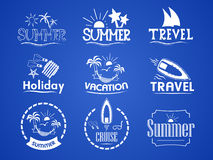 Set of summer logos Royalty Free Stock Images