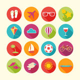 Set of Summer objects. Royalty Free Stock Photo