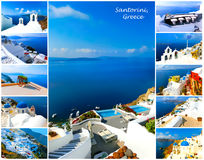 Set of summer photos in Santorini, Greece Stock Image