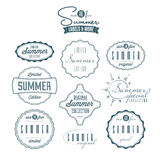 Set of summer related vintage labels Royalty Free Stock Image
