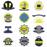 Set of summer retro  badges, ribbons and labels hipster. Set of summer  badges, ribbons and labels hipster Stock Photography
