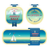 Set of summer sale labels, tags, stickers, banners Royalty Free Stock Photography