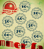 Set of summer sale retro labels Stock Photography