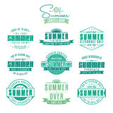 Set of summer sales related vintage labels Royalty Free Stock Photo