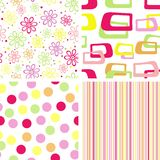 Set of summer seamless pattern Royalty Free Stock Image