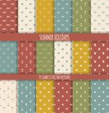 Set of summer seamless patterns Royalty Free Stock Images