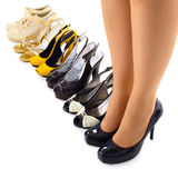 Set of summer shoes for modern woman Stock Images