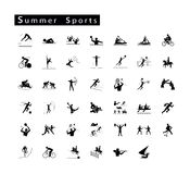 Set of 41 Summer Sport Icons Stock Photography