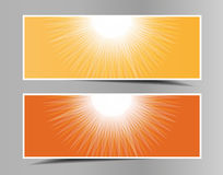 Set of summer-spring horizontal banners. Stock Image