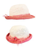Set summer straw hat Stock Photography