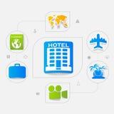 Set of summer tourism icons royalty free illustration