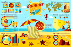 Set of Summer and Travel Infographic elements with Stock Images