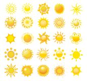 Set of sun  Royalty Free Stock Image