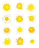Set of sun Royalty Free Stock Photos