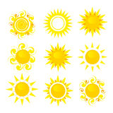 Set of sun  Royalty Free Stock Photo