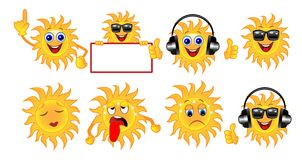 Set a sun of different emotion Royalty Free Stock Photography