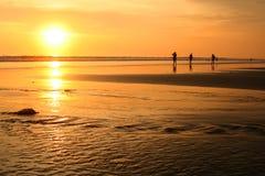 set sun för bali strand Fotografering för Bildbyråer