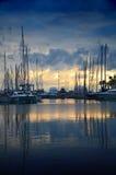 set sun för cannes france marina Royaltyfri Fotografi