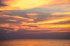 set sun för hav Arkivfoton