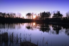 set sun för reflexion Arkivbilder
