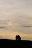 set sun för romantiker Royaltyfri Fotografi