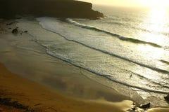 set sun för strand Royaltyfri Fotografi