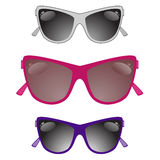 Set of sun glasses on a white background Royalty Free Stock Photo