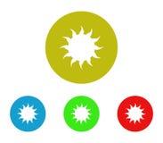 Set of sun icon illustrated. On white background Royalty Free Stock Photos