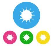 Set of sun icon illustrated. On white background Royalty Free Stock Image