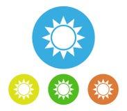 Set of sun icon illustrated. On white background Stock Photos