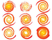 Set of sun icons Stock Image
