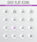 Set of sun icons. Sun easy flat web icons for user interface design Stock Photo