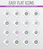 Set of sun icons. Sun easy flat web icons for user interface design Stock Photos