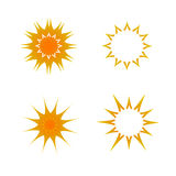 Set of sun icons , vector illustration Stock Images