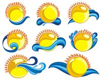 Set of  sun icons Stock Photos