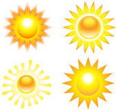 Set of sun illustrations Stock Photo