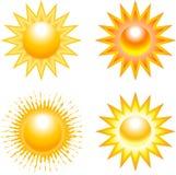 Set of sun illustrations Royalty Free Stock Photo