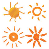 Sun design elements Royalty Free Stock Image