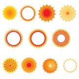 Set of sun symbols Set of sun symbols Royalty Free Stock Photos