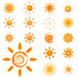 Set of sun vector Stock Photography