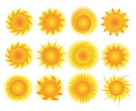 Set of sun vector Royalty Free Stock Image