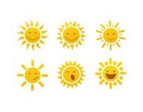 Set of sun vector Stock Photos