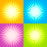 Set of Sunburst backgrounds Royalty Free Stock Photos
