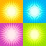 Set of Sunburst backgrounds. Set of Four Sunburst backgrounds Abstract Illustration Royalty Free Stock Photos