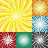 Set of sunbursts Stock Photos