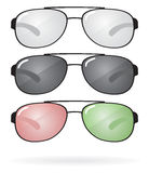 Set of sunglasses and eyeglasses. Vector Stock Photography