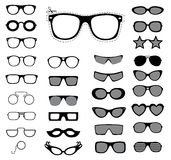 Set of sunglasses and glasses. Vector illustration Stock Photo