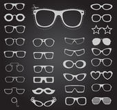 Set of sunglasses and glasses. Vector illustration Royalty Free Stock Image