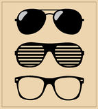 Set of sunglasses.  illustration background Stock Photos