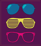 Set of sunglasses. illustration background Royalty Free Stock Image